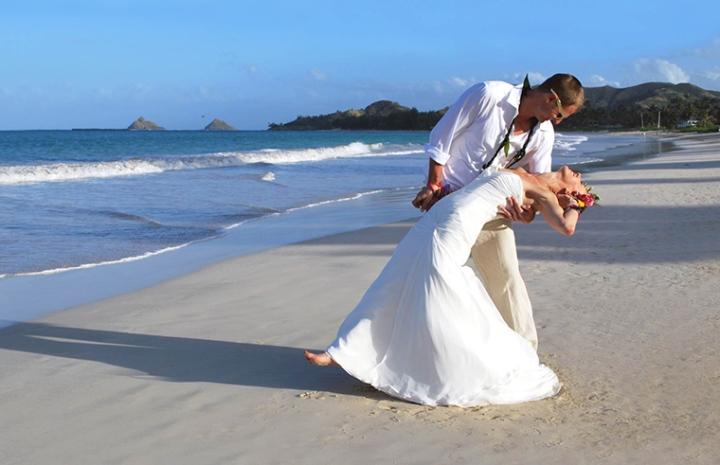 Beach Wedding Couple Blog